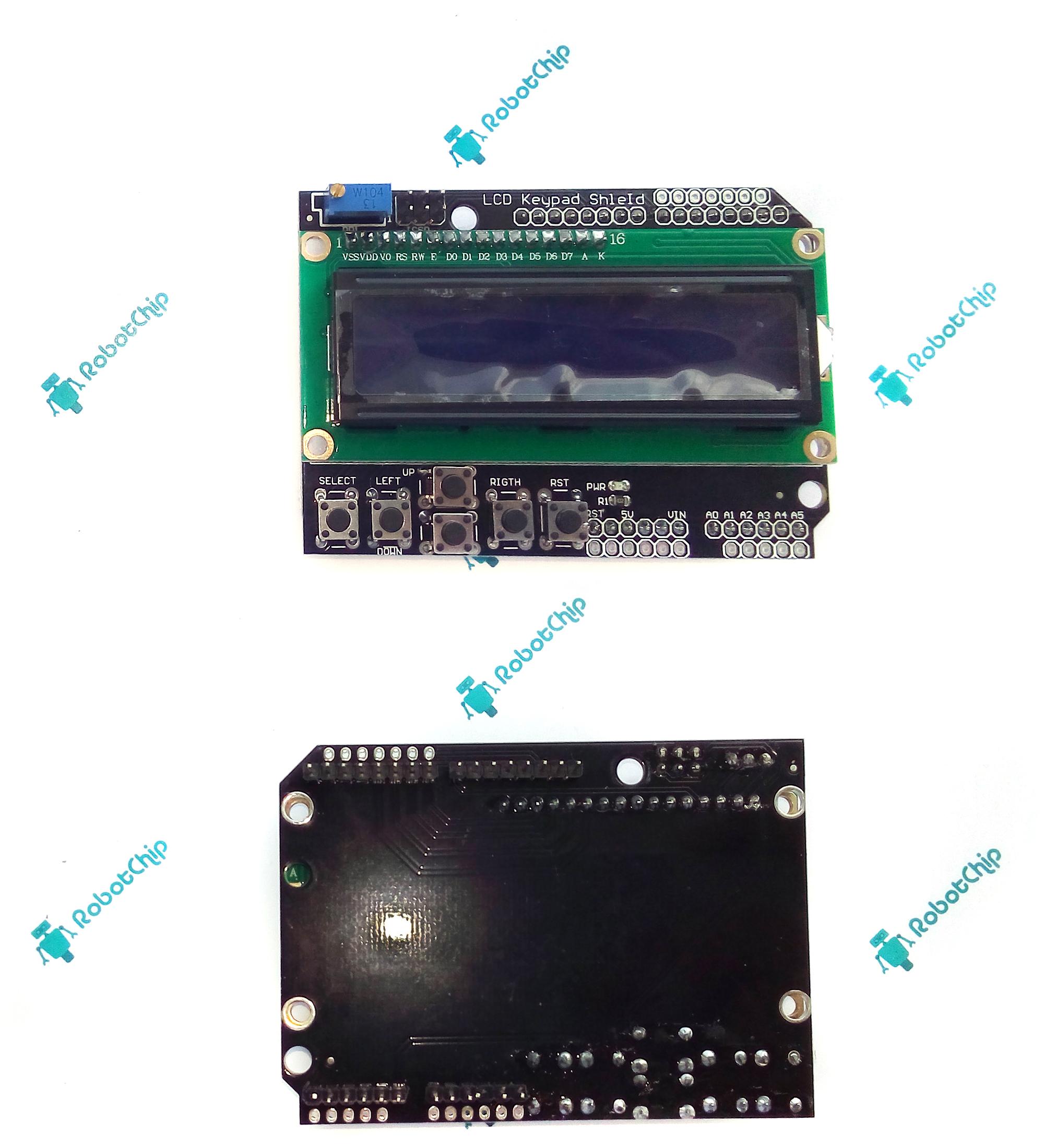 Обзор LCD модуля keypad (LCD1602, 2x16, 5V)