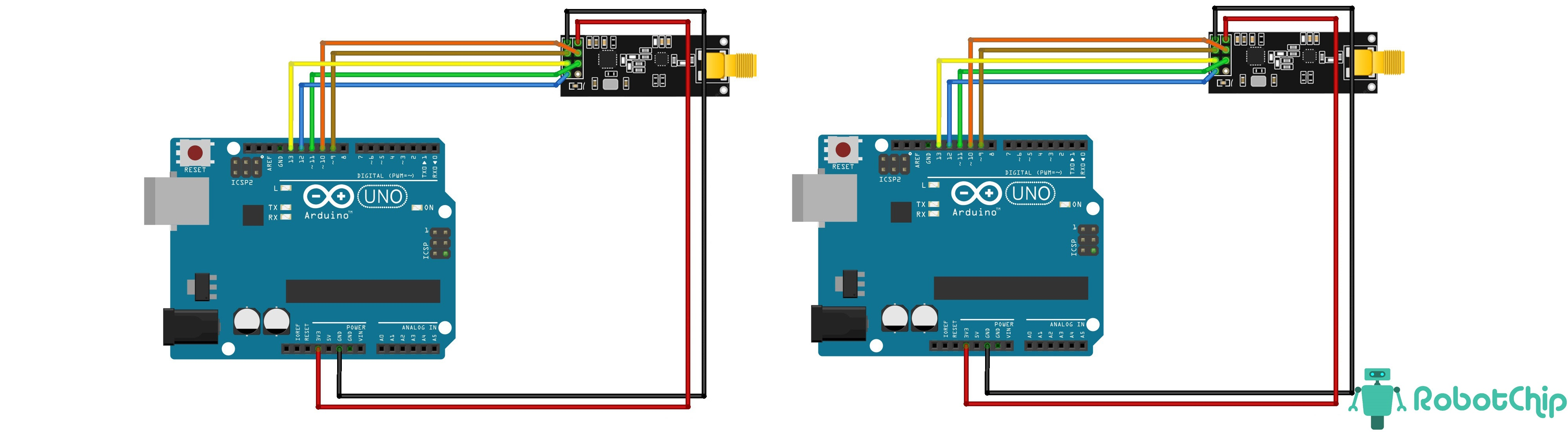 Подключение радиомодуля NRF24L01+PA+LNA к Arduino