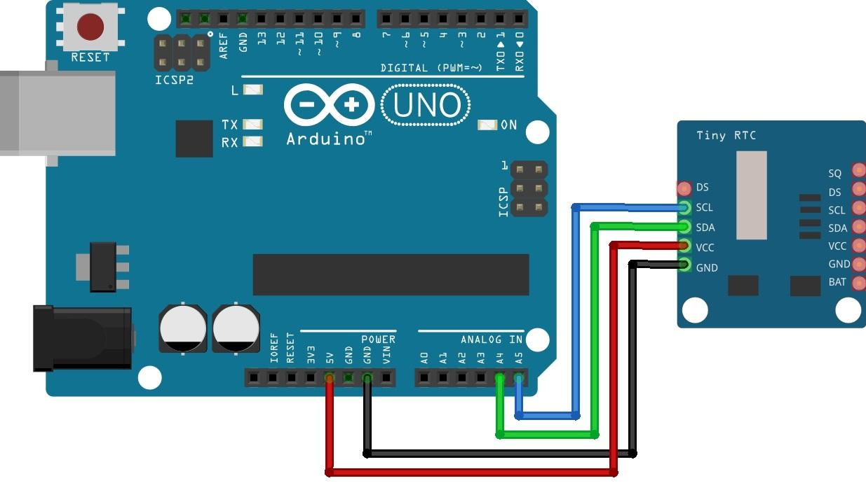 Подключение модуля 0S1307 к Arduino