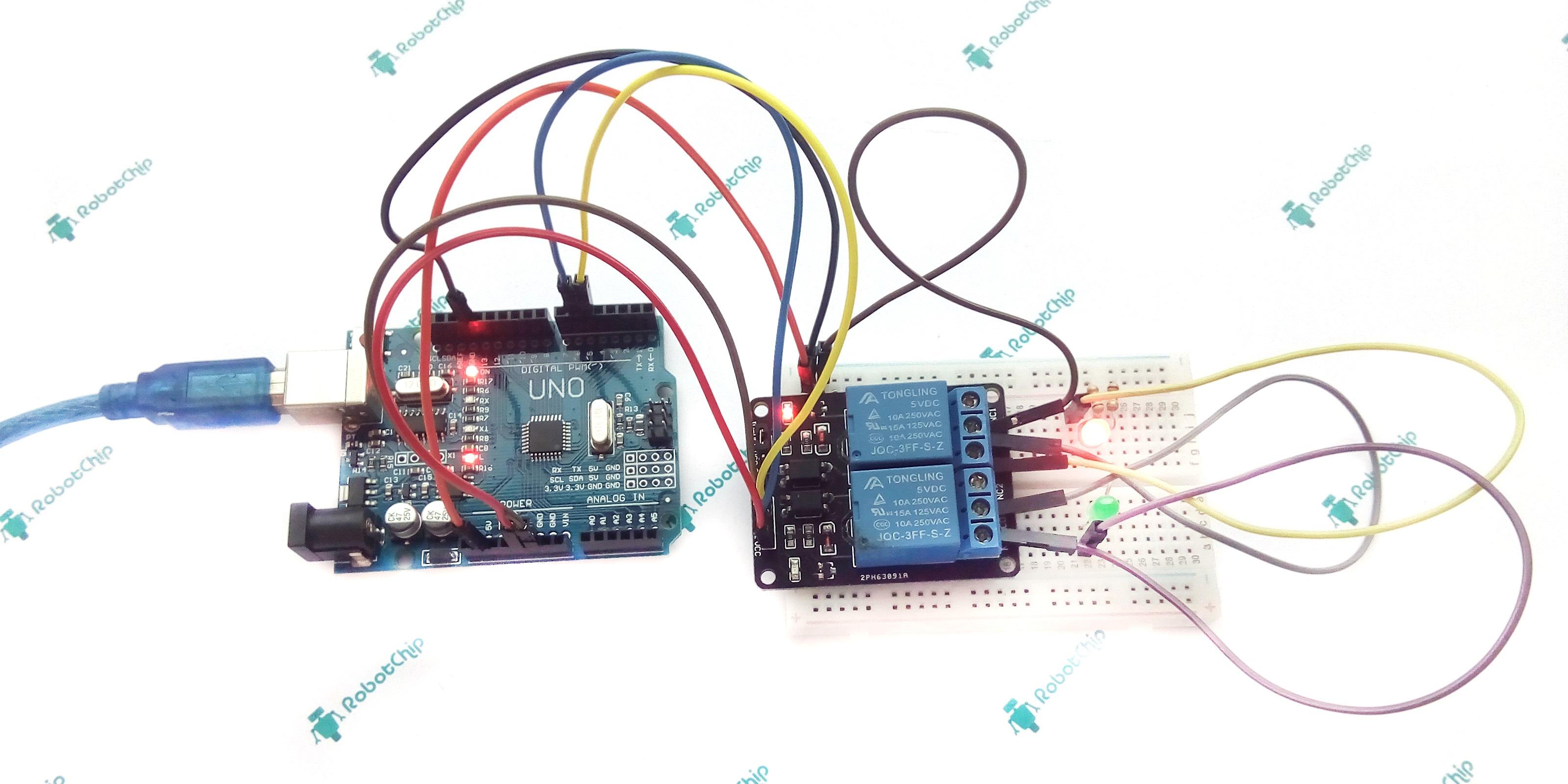 Подключение 2-х канального реле к Arduino