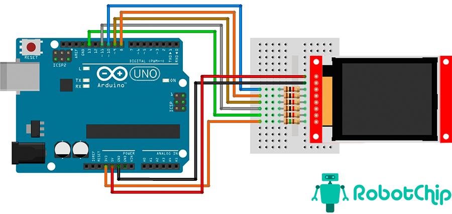 Подключение TFT-дисплея 1.8 к Arduino