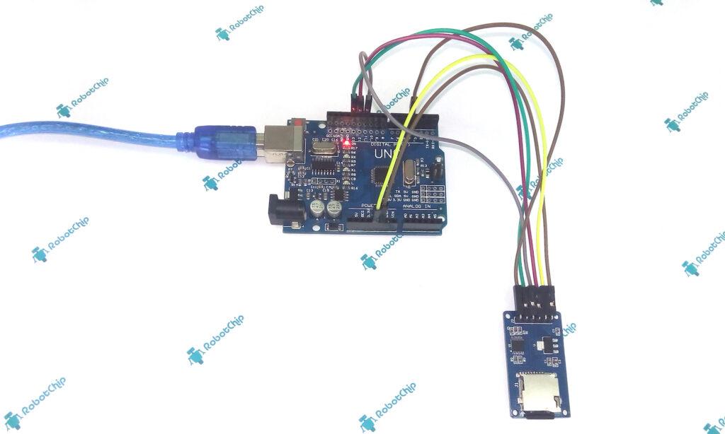 Подключение модуля micro SD карт к arduino