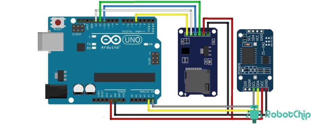 Подключение DS3231 и SD к Arduino