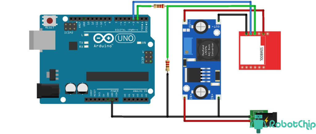 Подключение SIM800L к Arduino
