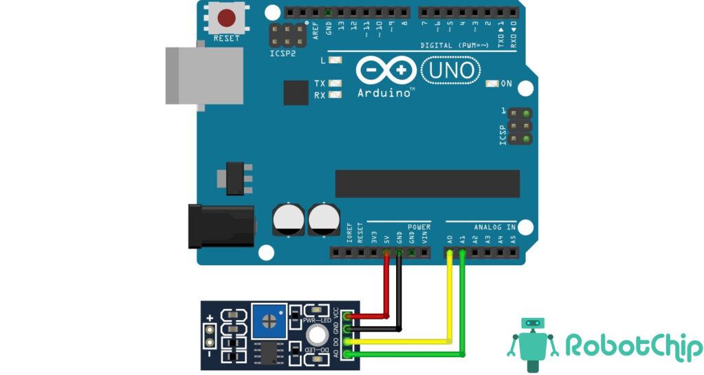Подключение модуля вибрации SW-18010P, LM393 к Arduino