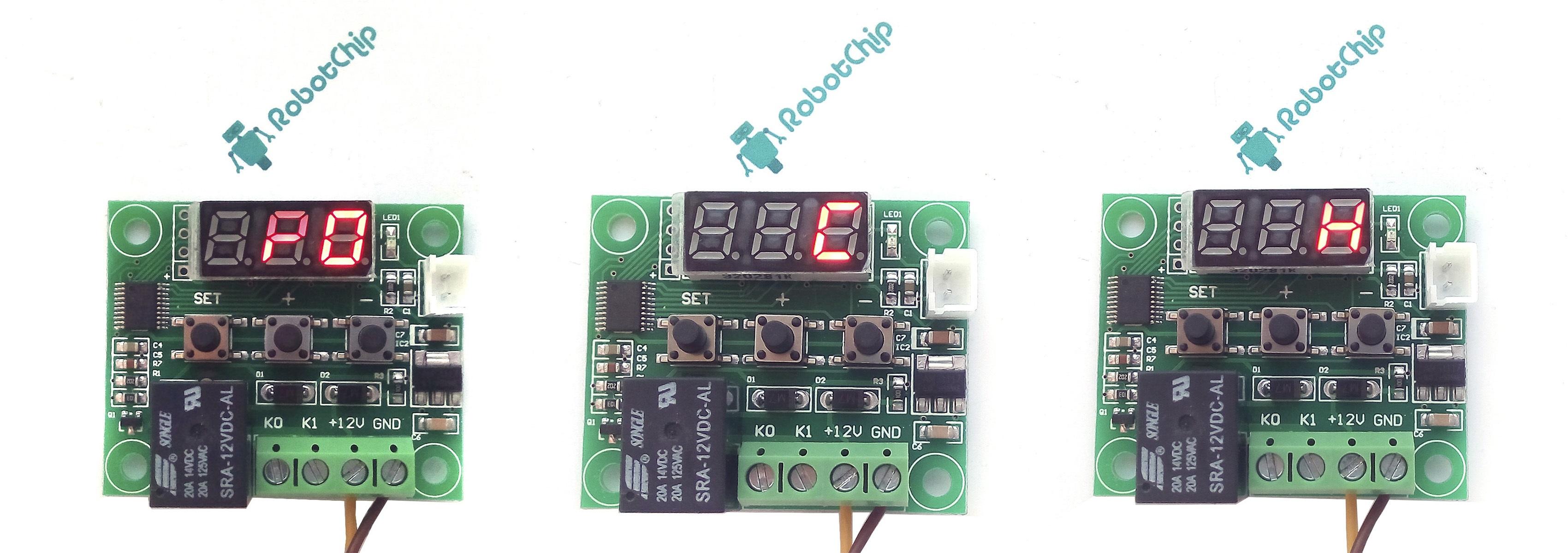 Терморегулятор XH-W1209 - настройка меню P0