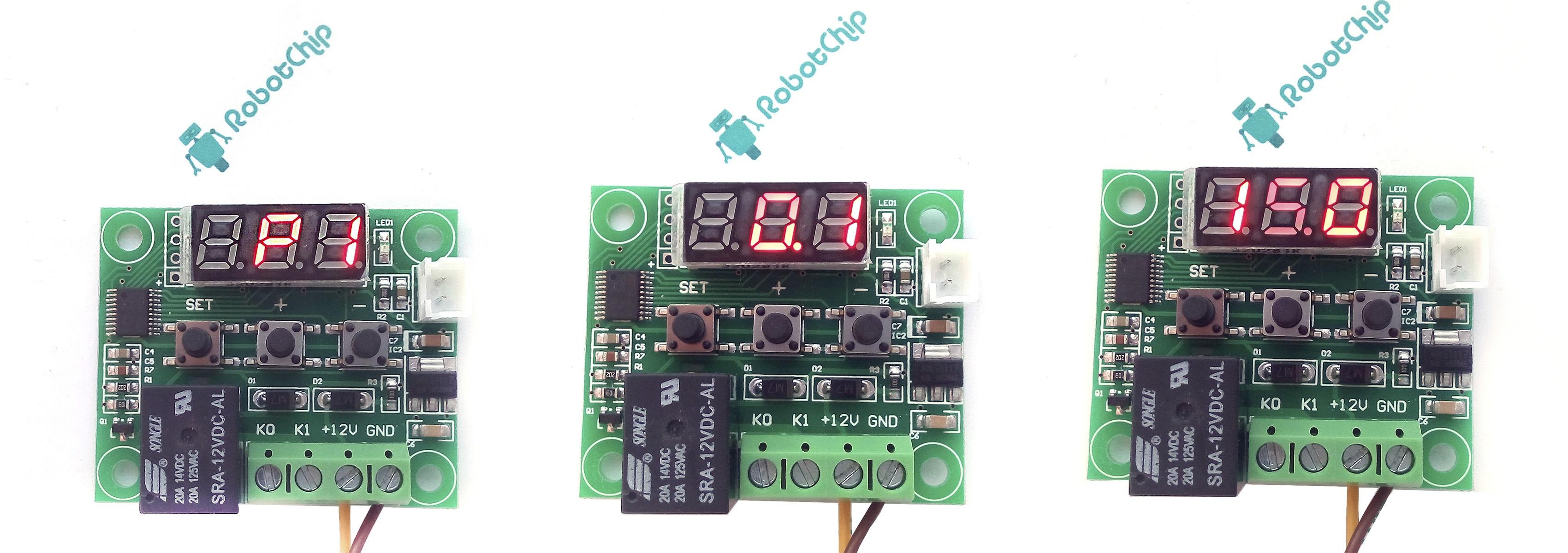 Терморегулятор XH-W1209 - настройка меню P1