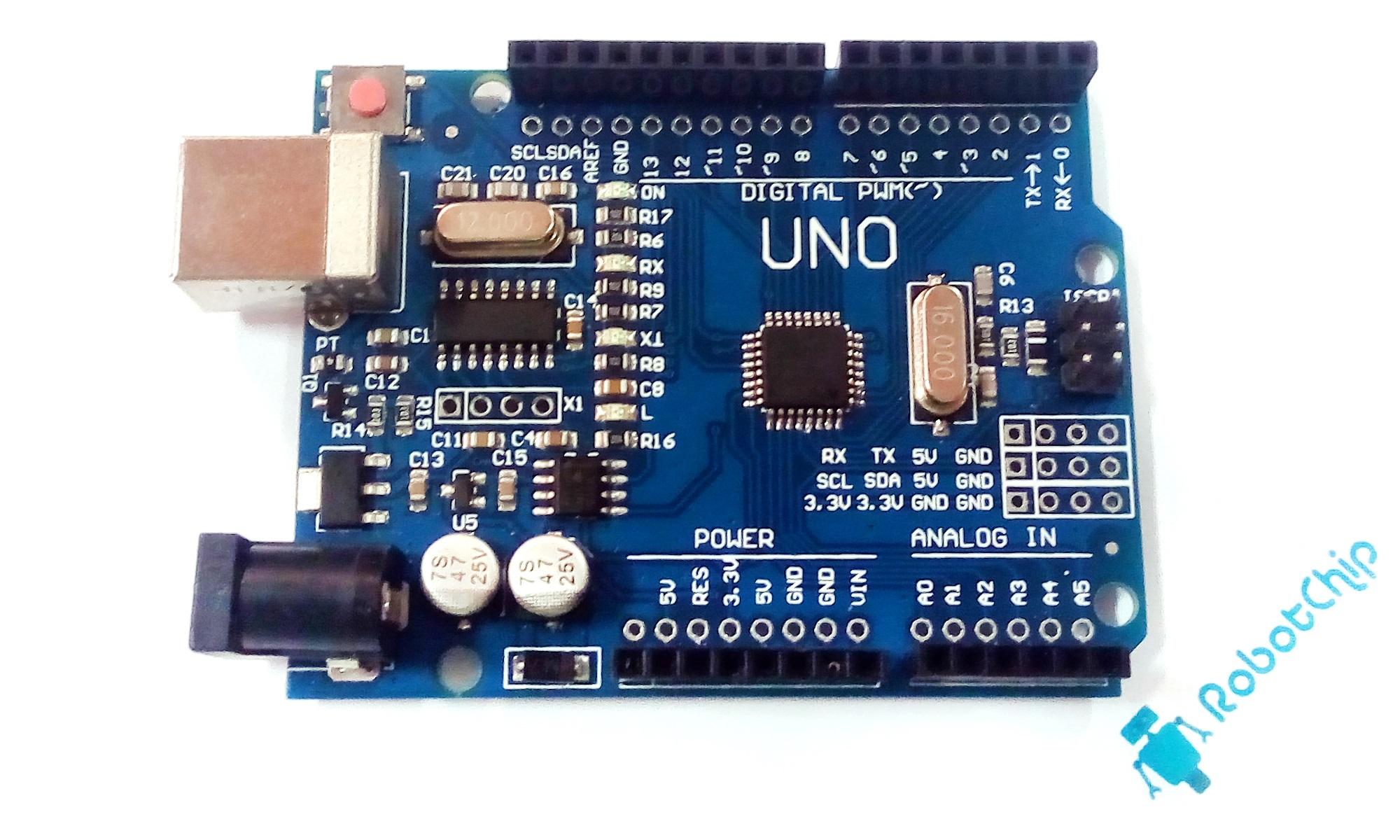 Обзор Arduino UNO R3 (DCcduino, CH340G)