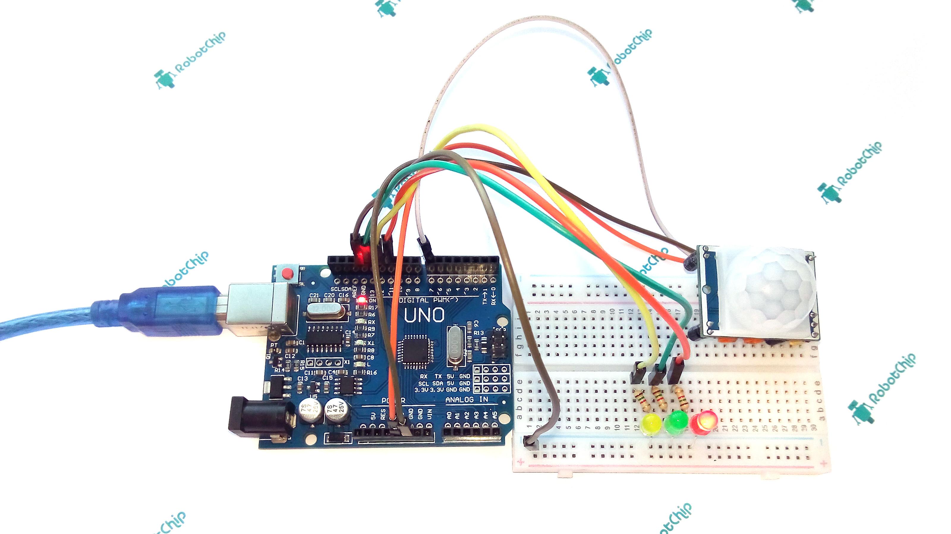Подключение HC-SR501 к Arduino