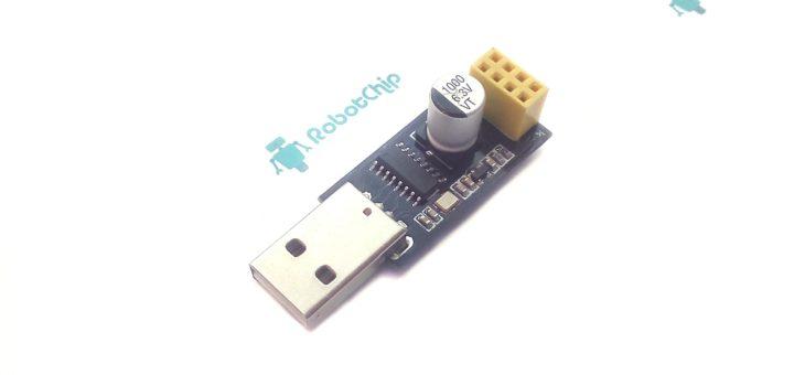 Обзор USB адаптера для ESP-01 на CH340G