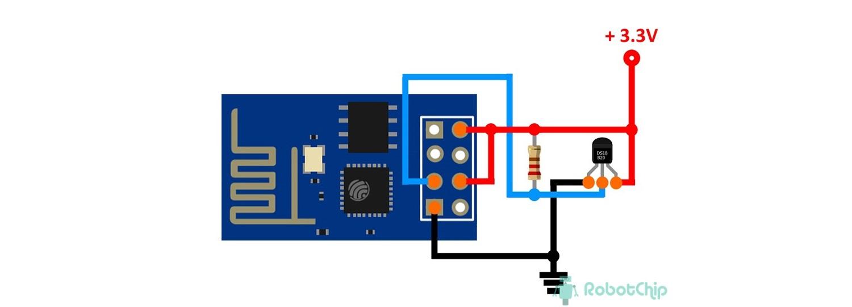 WEB сервер на ESP-01 с DS18B20