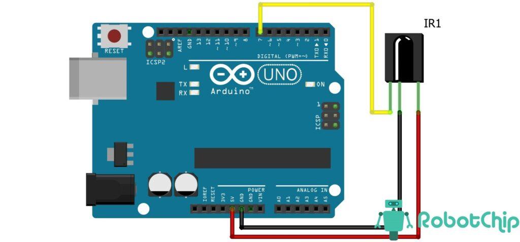Подключение модуля HX1838 с ИК пультом к Arduino