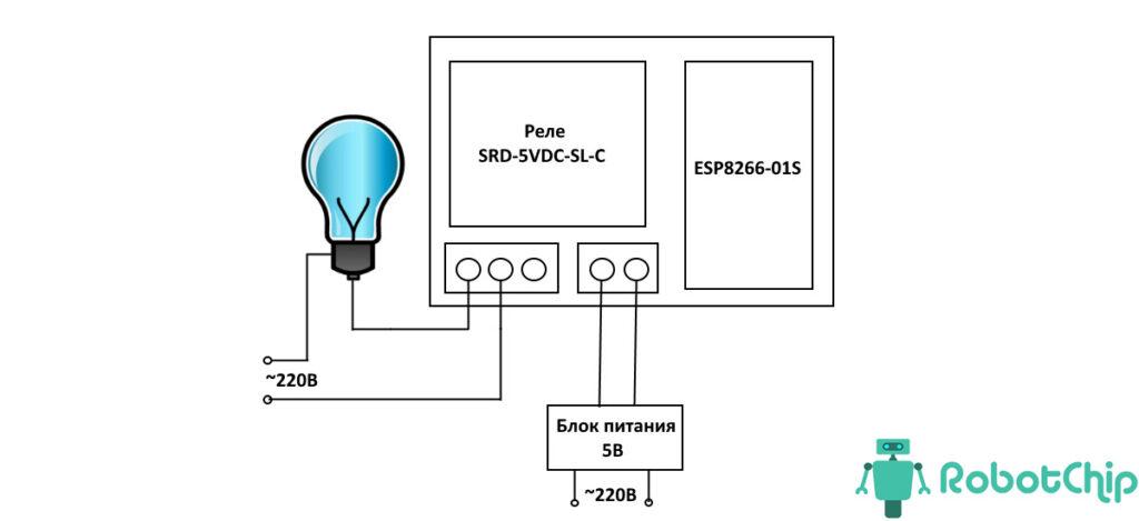 Обзор модуля реле для ESP8266-01S