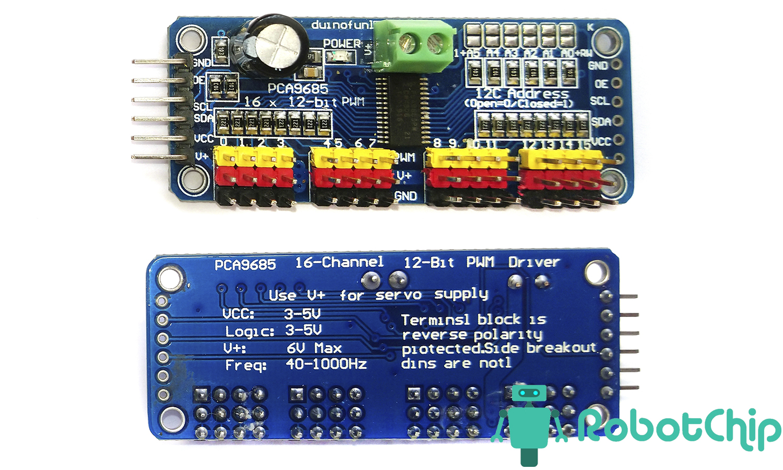 Обзор модуля PCA9685