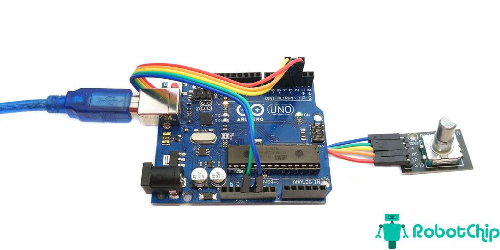 Подключение энкодера KY-040 к Arduino