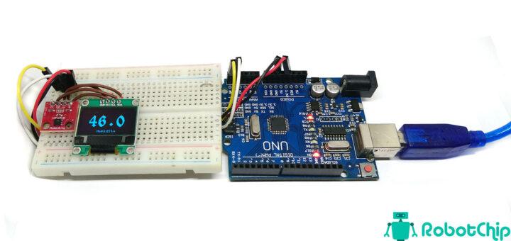 OLED термометр и гигрометр на HTU21D